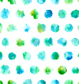 Seamless pattern of watercolor circles vector image