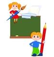 Children in the class vector image