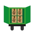 recycling transport vector image