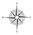 black compass icons vector image