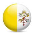 Round glossy icon of vatican city vector image