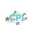 CPI Consumer Price Index word vector image