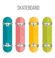 flat skateboards isolated vector image