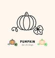 pumpkin icon vegetables logo thin line art vector image