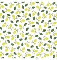 Seamless pattern with lemons on the white vector image