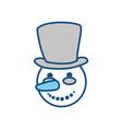 snowman cute cartoon vector image