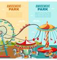 Amusement Park Vertical Banners vector image