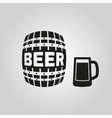 Keg and glass of beer icon Cask and barrel vector image