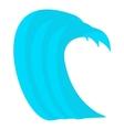 Tsunami wave icon cartoon style vector image