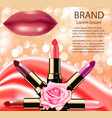 advertising decorative cosmetics lipstick lips vector image