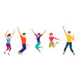jumping boys and girls happiness people isolated vector image