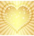 Golden valentine frame vector image vector image