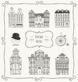 Vintage Old Styled Houses vector image vector image