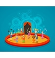 Circus Performers at the arena vector image