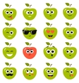 apple smiley faces vector image
