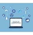cloud computing data icon vector image