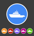 expedition boat yacht icon flat web sign symbol vector image