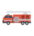 firefighter truck icon image vector image