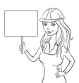 girl worker vector image