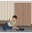 Playing Boy In The Room vector image