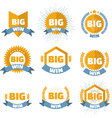 big win banner set vector image