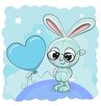 Cute Bunny with balloon vector image