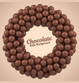chocolate balls round frame with place for your vector image