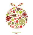 Merry Christmas card with Christmas ball vector image