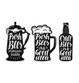 beer ale label set brew drink mug bottle icon vector image