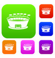 stadium set collection vector image