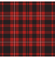 seamless - red tartan vector image