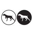 hunting dog vector image vector image