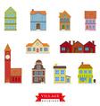 Old Village Buildings Set vector image