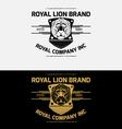Heraldic Lion Crest Logos Vol 4 vector image