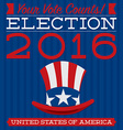 Retro style American election typographic card in vector image