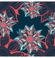 Colorful flowers seamless pattern Floral frame vector image