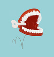 Wind Up Teeth Toy vector image