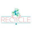 banner about recycle vector image