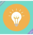 Creative idea in bulb shape as inspiration concept vector image