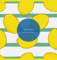 hand drawn seamless bright lemon pattern in vector image