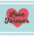 Heart shape icon Love design graphic vector image