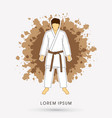 karate suit with brown martial arts belts vector image