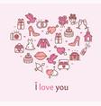 love concept heart shape design template thin line vector image