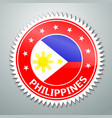 Philippine flag label vector image