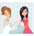 young woman with terrible throat pain vector image