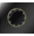 glass banner on a metallic background vector image vector image