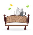 cat on the bench vector image vector image