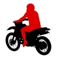 Black silhouettes sport bike on white background vector image vector image