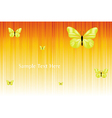 Solar Background With Butterflies vector image vector image