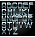alphabet chrome vector image